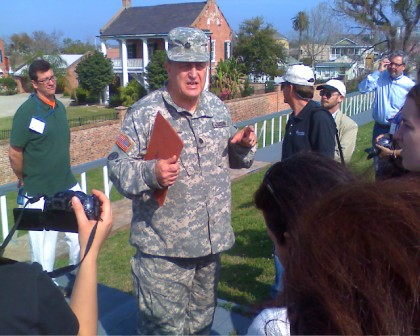Lt. Col Ryan gives a tour of the Jackson Barracks